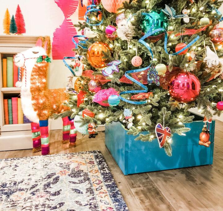 diy farmhouse christmas tree crate