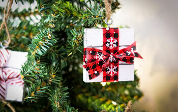 How to Make a Gift Box Ornament Using Dollar Tree Supplies