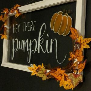 Upcycle an old window into lettered wall art