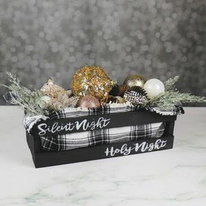 Transform a crate into festive Christmas decor!