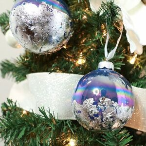 Glam-up your ornaments with silver foil!