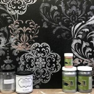 Use stencils to make gorgeous wall art