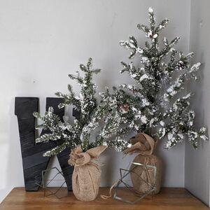 Fake a high-end mini flocked tree