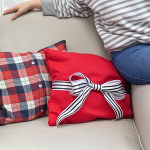 Make adorable no-sew pillows out of old sweatshirts!