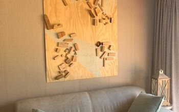 Abstract Art From Shutterboard and Wood Cut-offs
