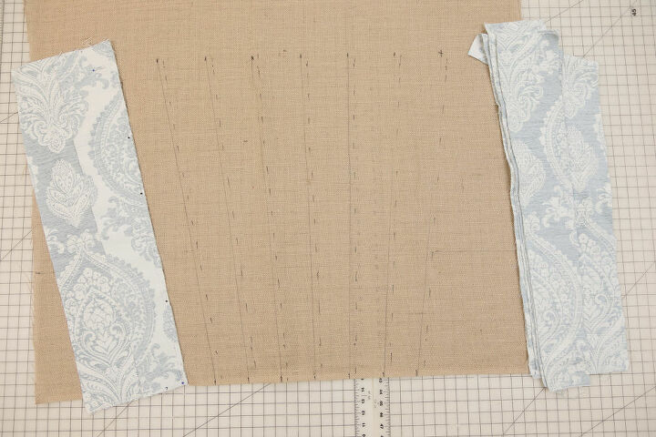 Burlap prepared for channel face fabric