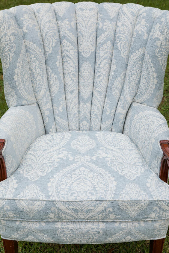 channel back chair upholstery diy