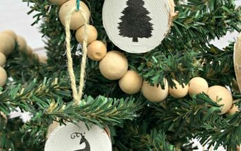 Christmas Symbols Wood Slice Ornaments