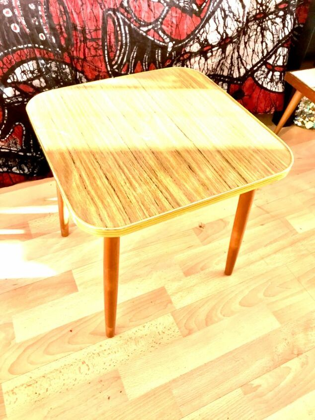 how to transform an old coffee table into a piece of functional art, Vintage table