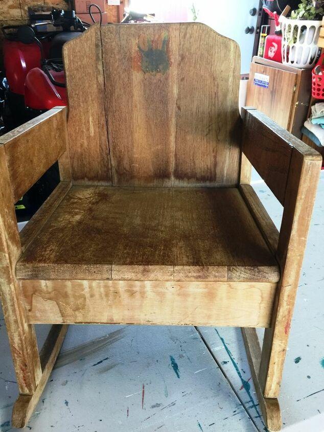 restoring an antique children s rocking chair