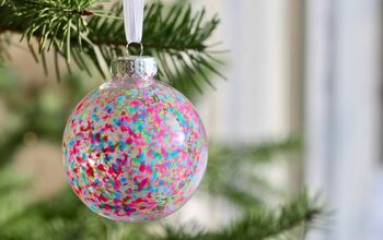 Melted Crayon Christmas Ornaments