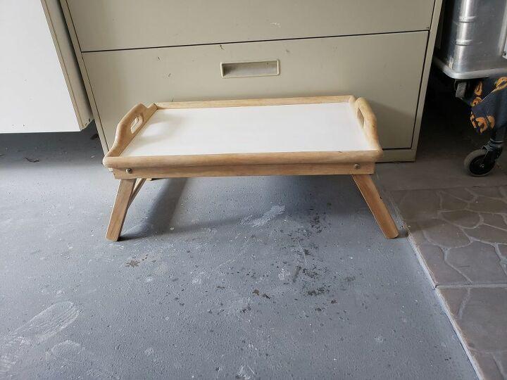 diy making a folding legs romantic love bed tray
