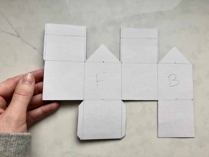 paper house ornaments holiday diy project