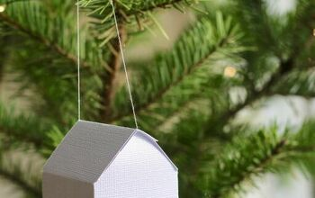 Paper House Ornaments - Holiday DIY Project