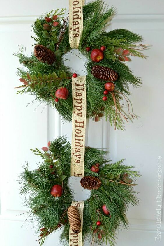 christmas triple wreath