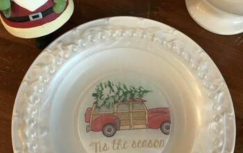 Glass Christmas Plate DIY