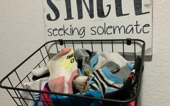 Laundry Room Sign and Sock Basket