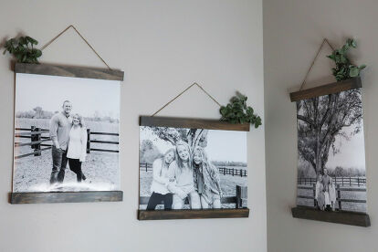 Hang family photos in style