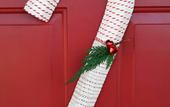 Candy Cane Wreath Alternative
