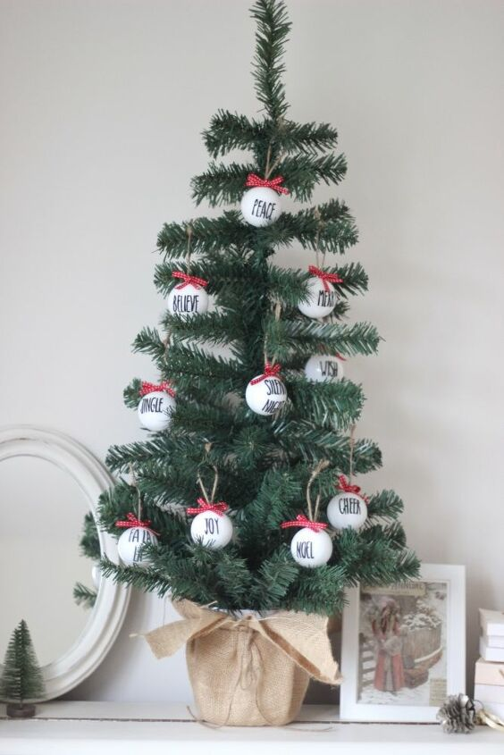 rae dunn style tree decorations