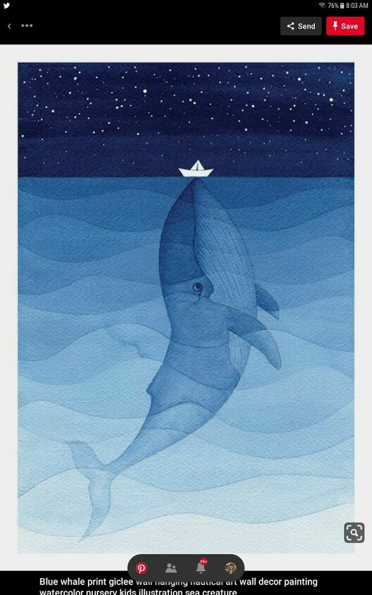 Whale Watercolor Inspiration