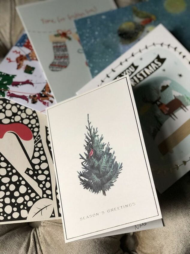 reuse old christmas cards as gift tags easy upcycle project