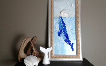 Blue Whale Mosaic Picture Frame