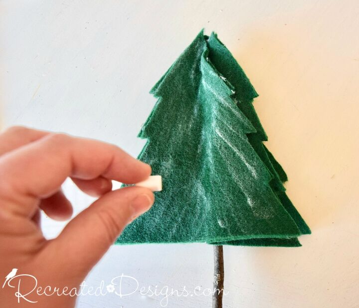 how to make winter felt trees