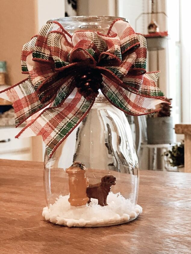 adorable diy wine glass snow globes