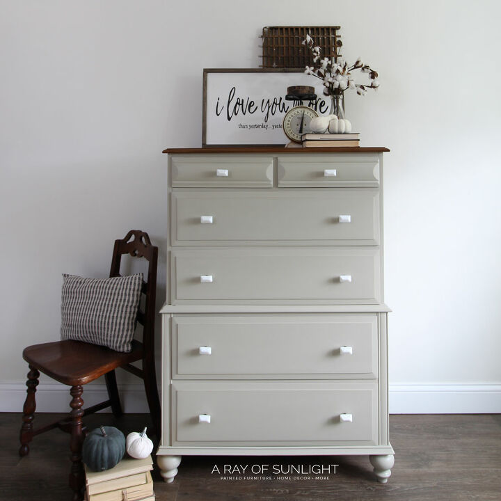 how to add feet to a dresser