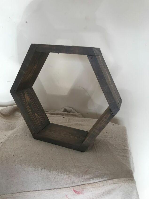 hexagon shelf planter