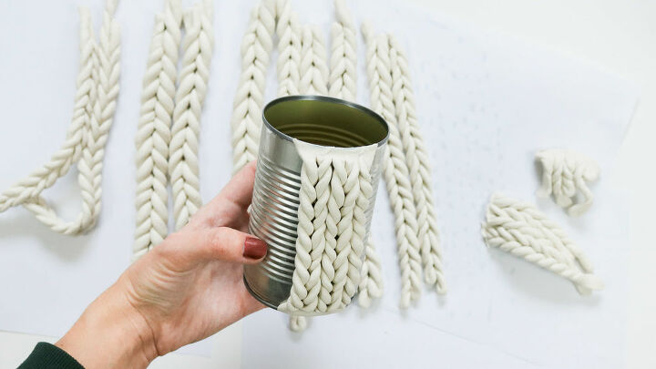 chunky knit tin can upcycle