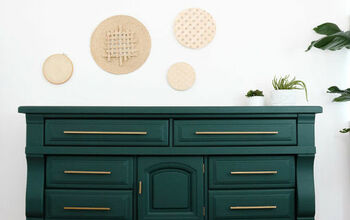 Old Dresser Upcycle - Hunter Green + Brass