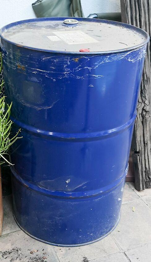 diy drum water feature
