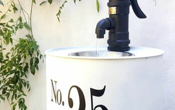 DIY Drum Water Feature