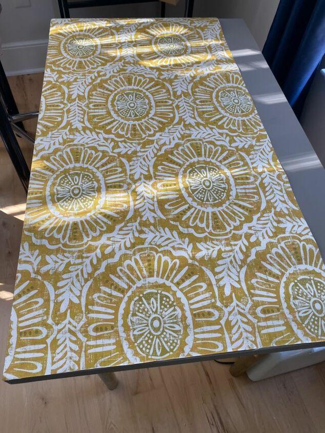 ikea hack linnmon refresh with peel n stick wallpaper