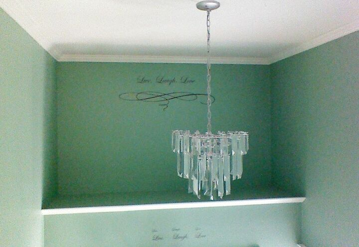 easy chandelier makeover with driftwood