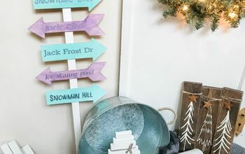 Porch Arrow Sign- Winter Themed