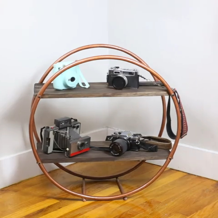 how to get high end shelving with hula hoops
