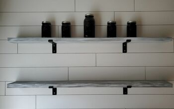 DIY Weathered Open Shelving
