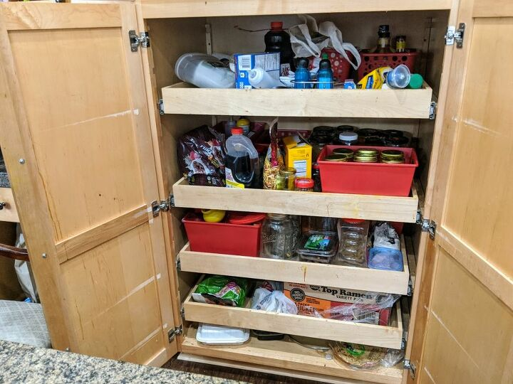 how to organize a slid out pantry