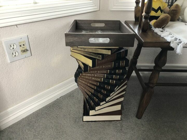how to reuse old encyclopedias and books