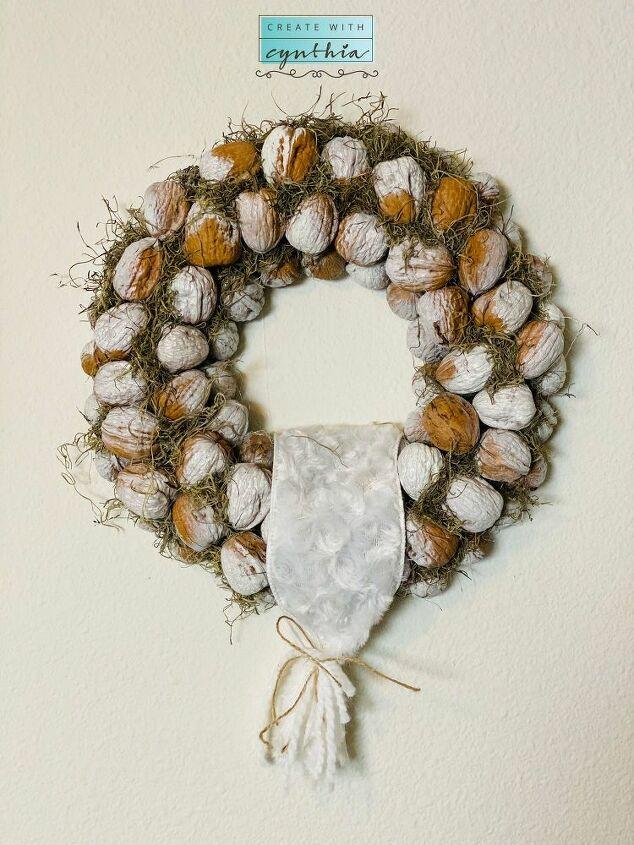 walnut wreath diy