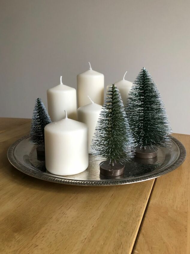 5 minute winter centrepiece