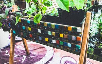 How to Upcycle  a Vintage Planter With Mosaic