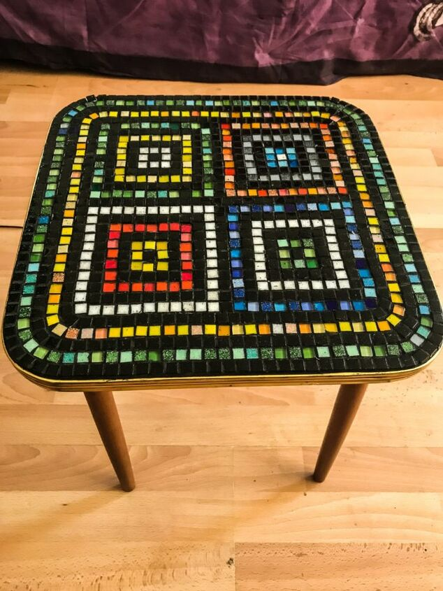 Mosaic upcycled table