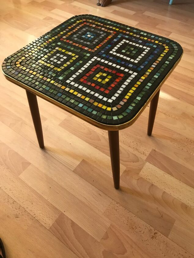Mosaic upcycled coffee table