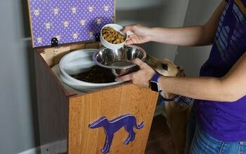 DIY Raised Pet Food Storage