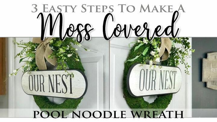 diy spring wreath using pool noodle