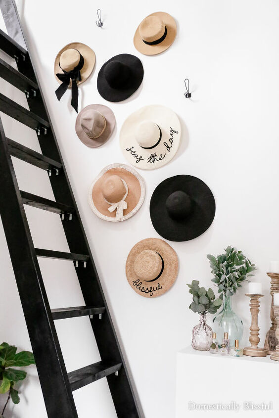 diy hat wall display